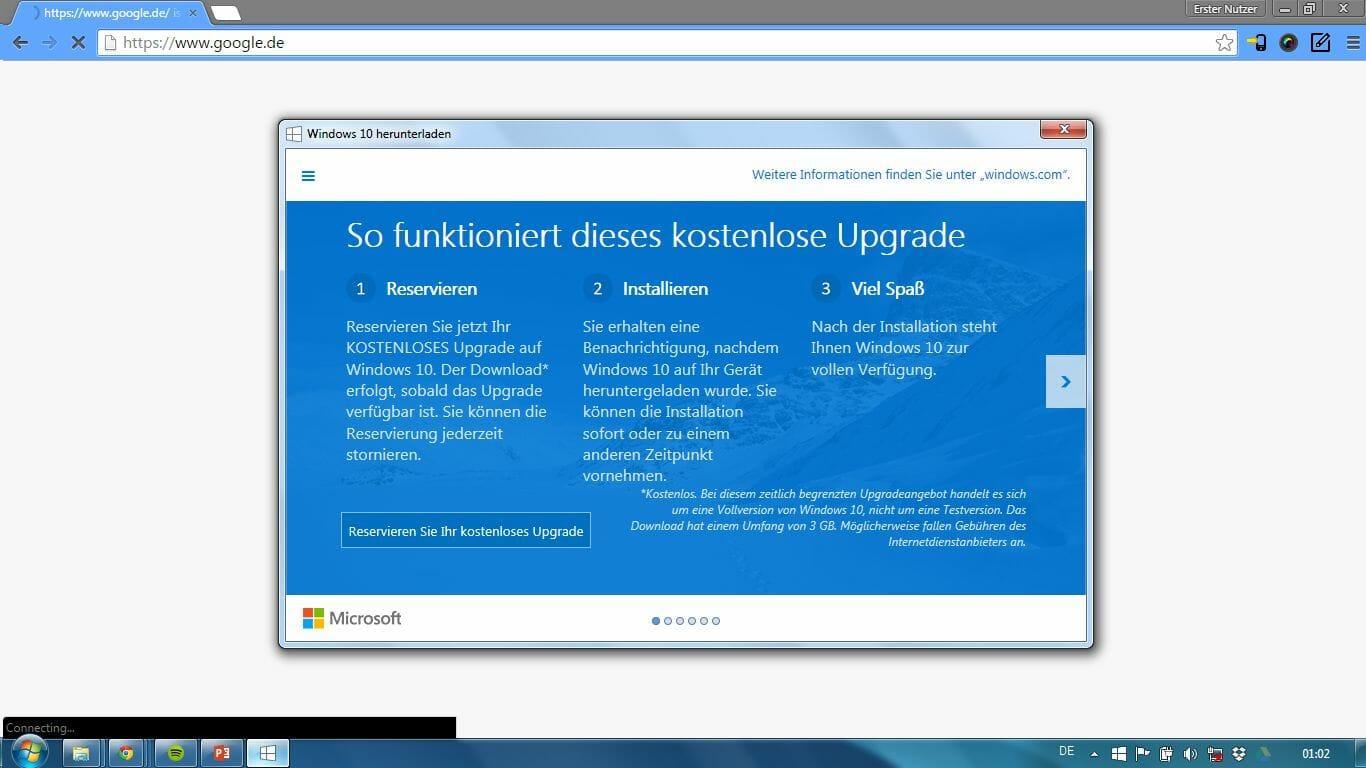 Windows 10 jetzt kostenlos reservieren