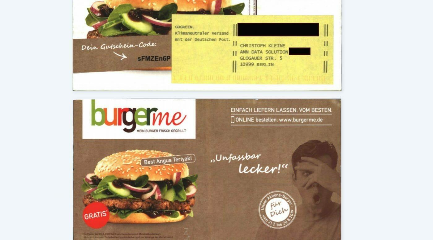 Burger.me Spam über CAYA scannen lassen