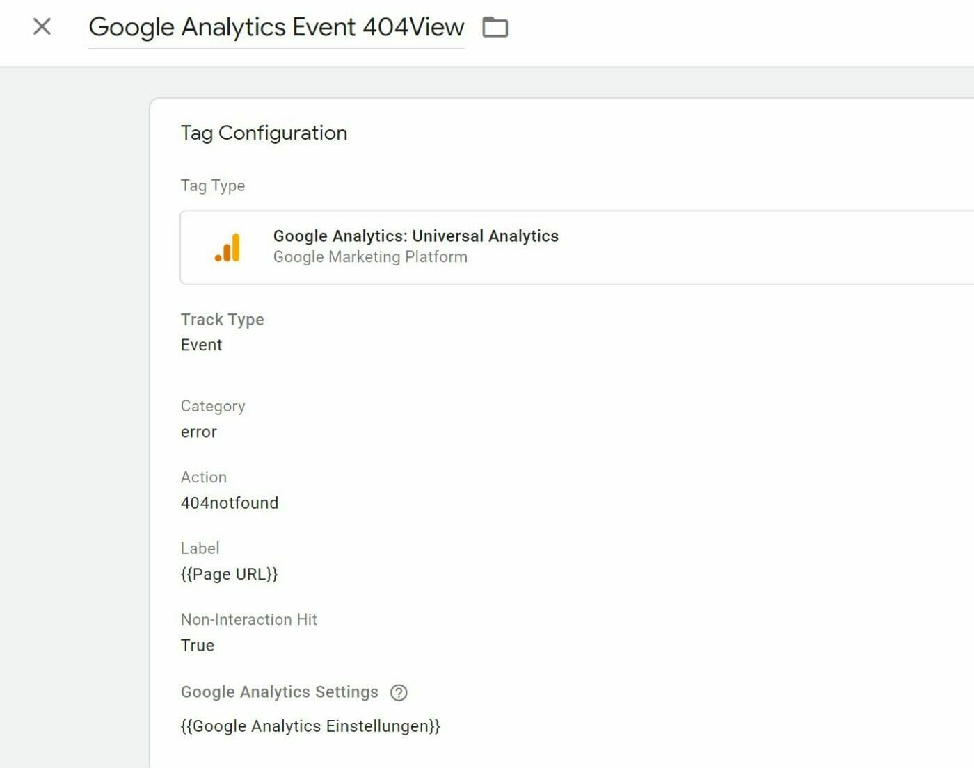 Google Analytics 404 Event