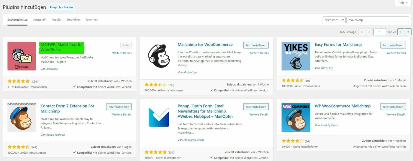 Mailchimp 4 WordPress Plugin