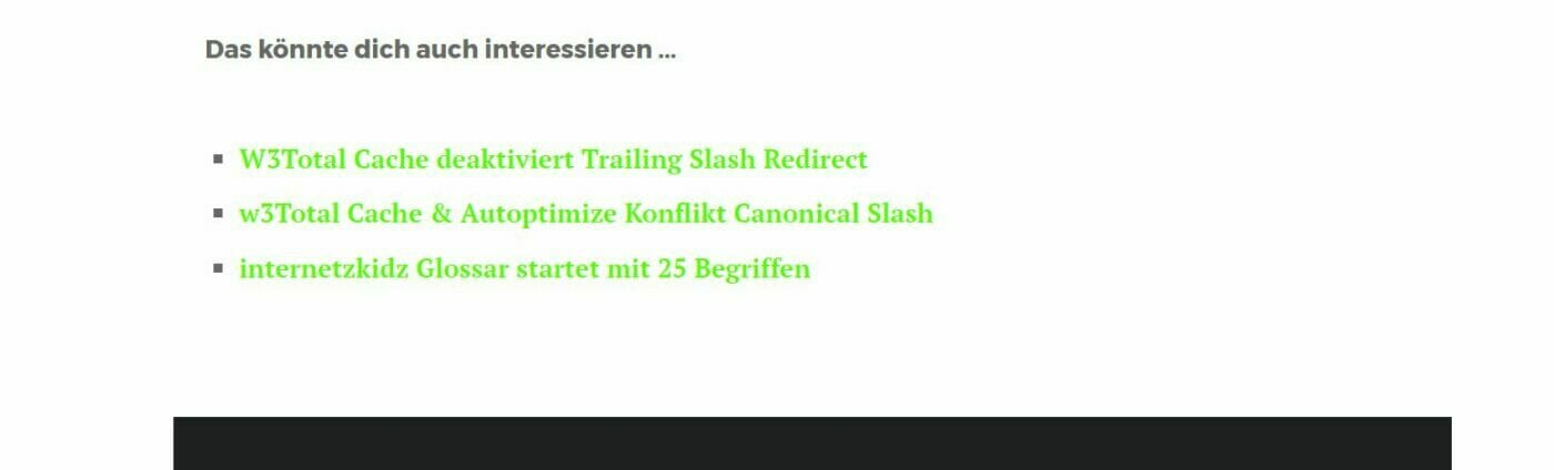 Related Posts auf internetzkidz.de