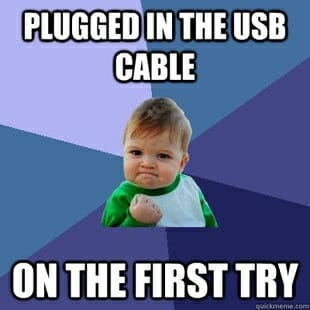Sucess Kid Meme - plugged in USB