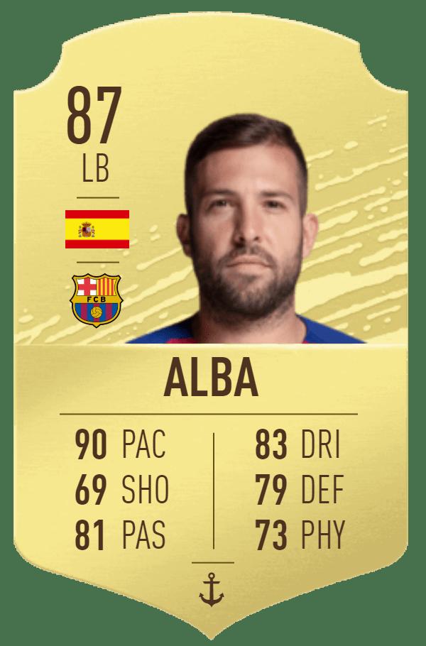 Jordi Alba 87 FIFA20