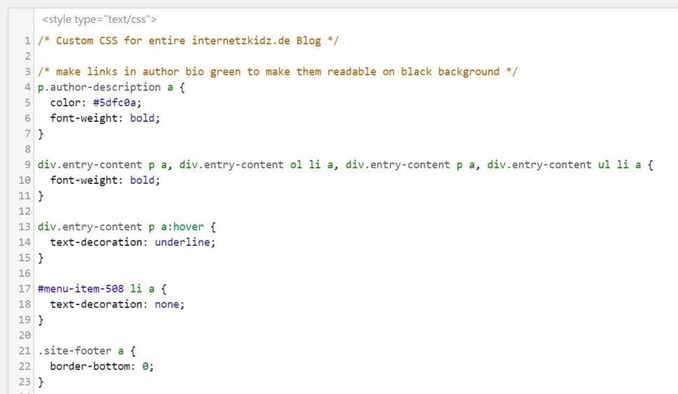 CSS Internetzkidz Glossar