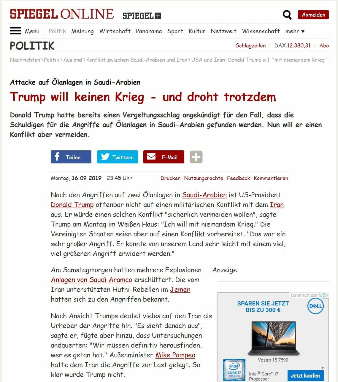 Spiegel Online Artikel Comic Sans MS