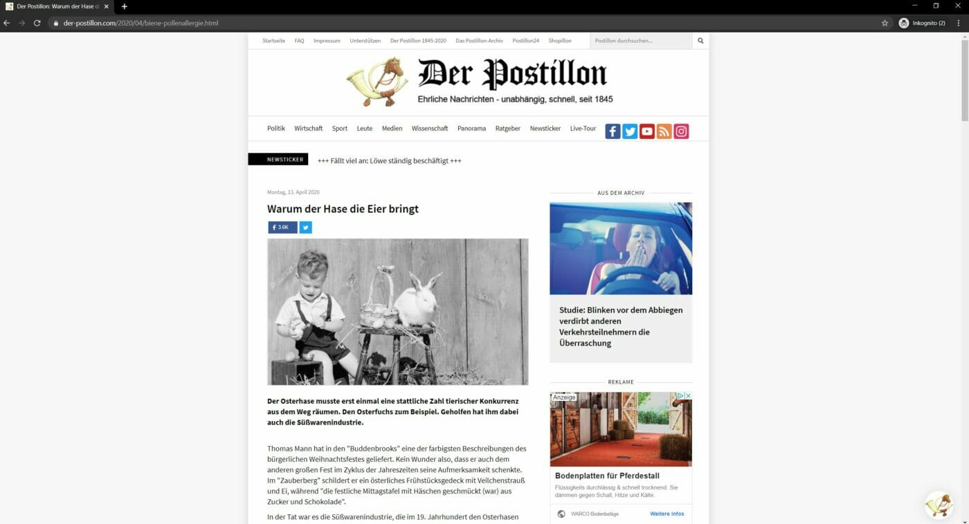 Fake News Postillion komplett