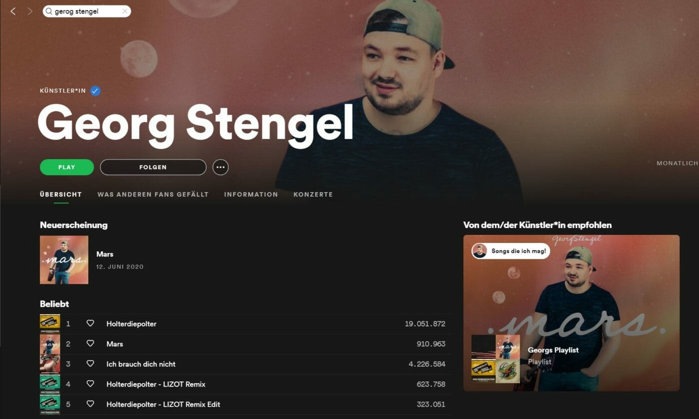 Georg Stengel Mars Cover