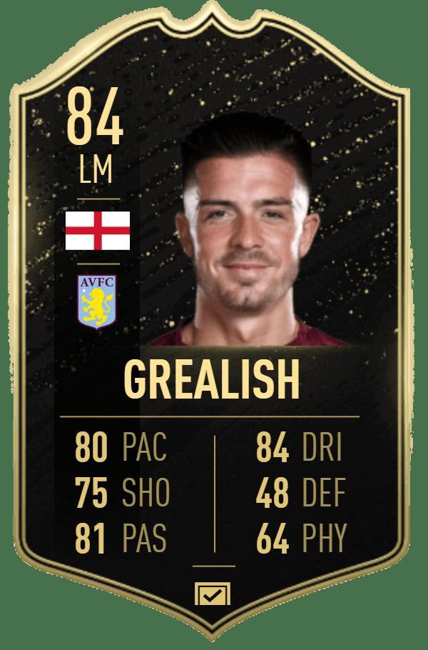 Jack Grealish 84 FIFA20