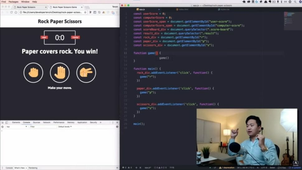 HTML CSS JS Tutorial von whatsdev auf freecodecamp
