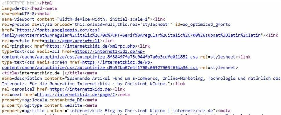 HTML internetzkidz.de Glossar
