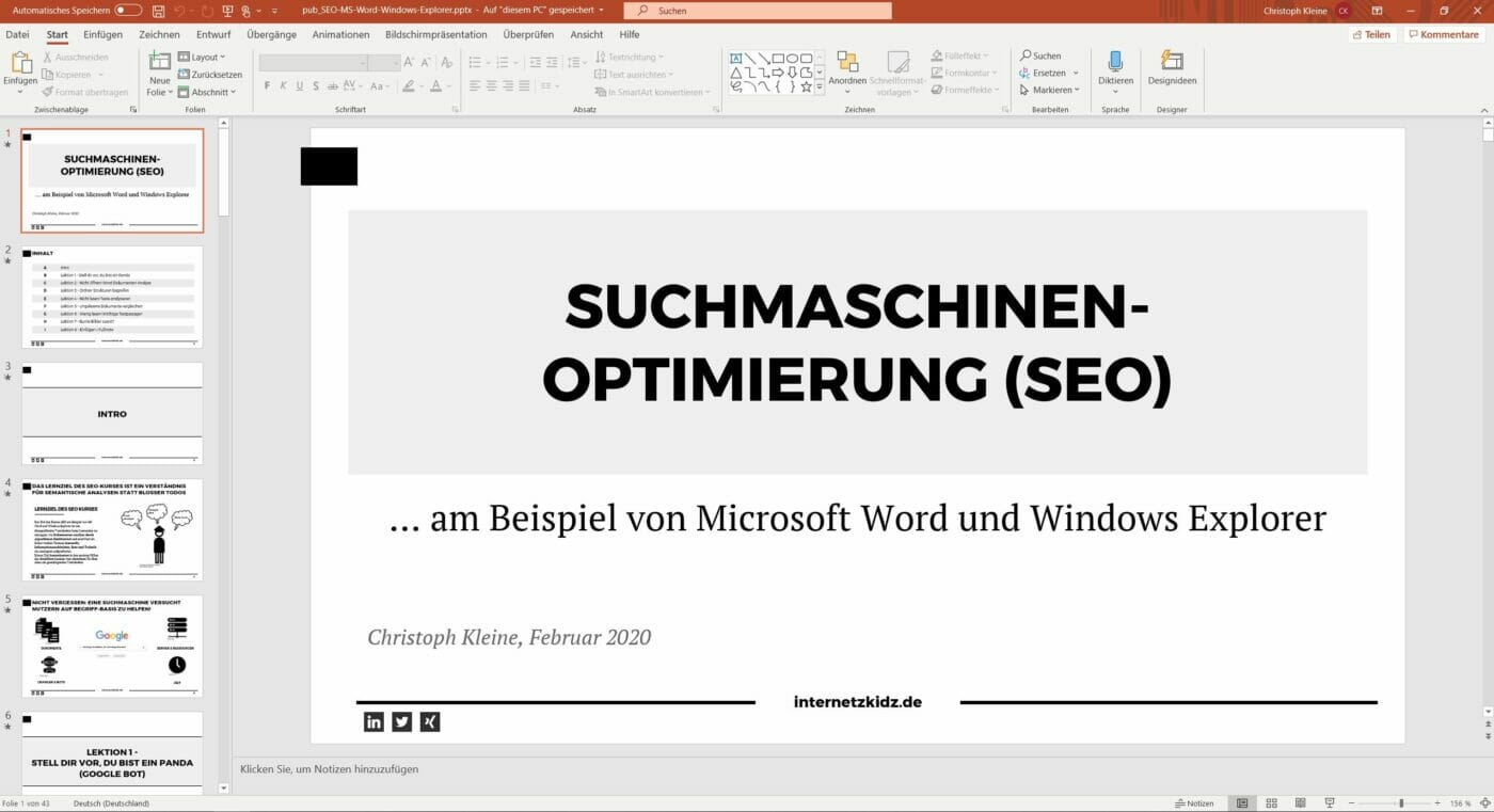 Powerpoint Präsentations Version