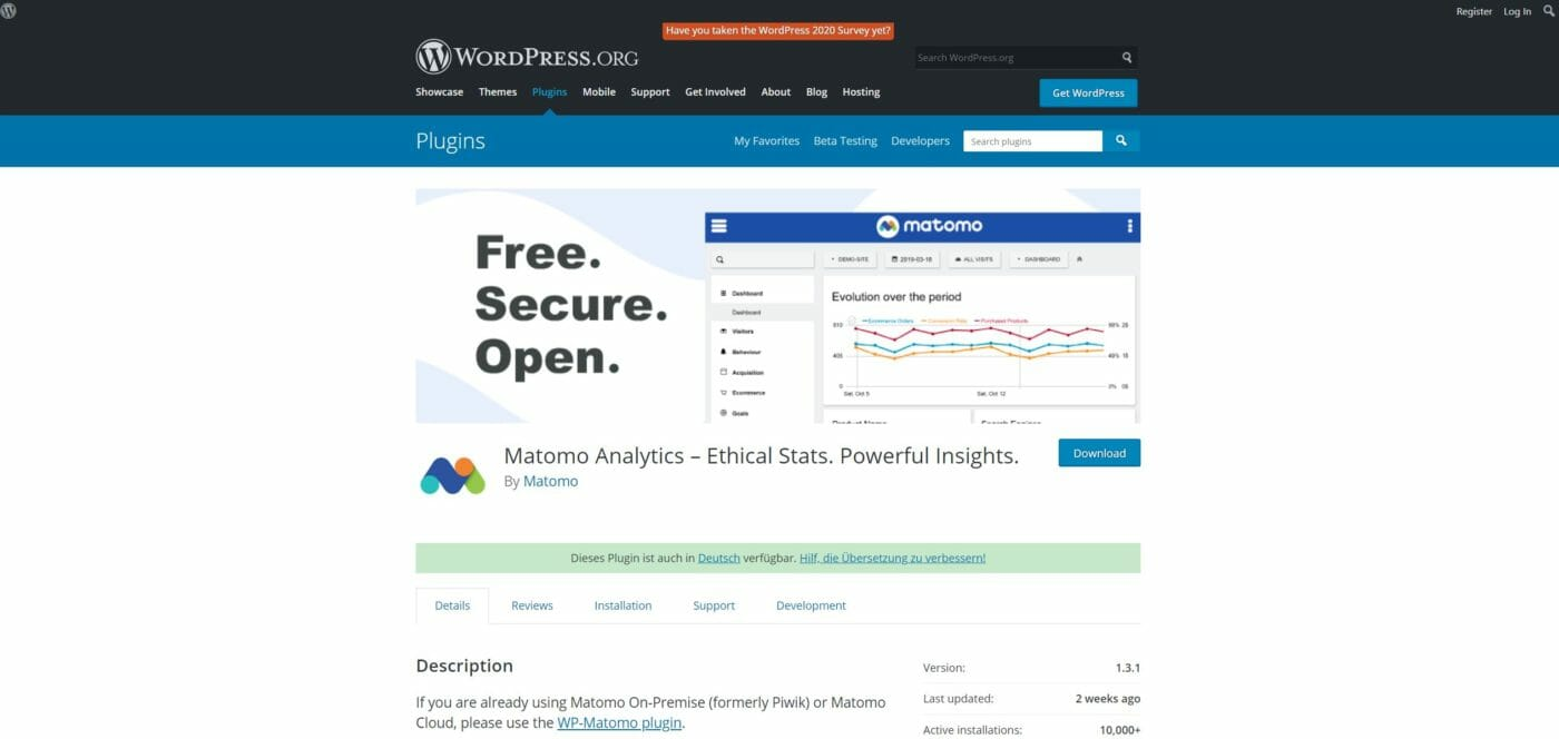 Matomo WordPress Plugin