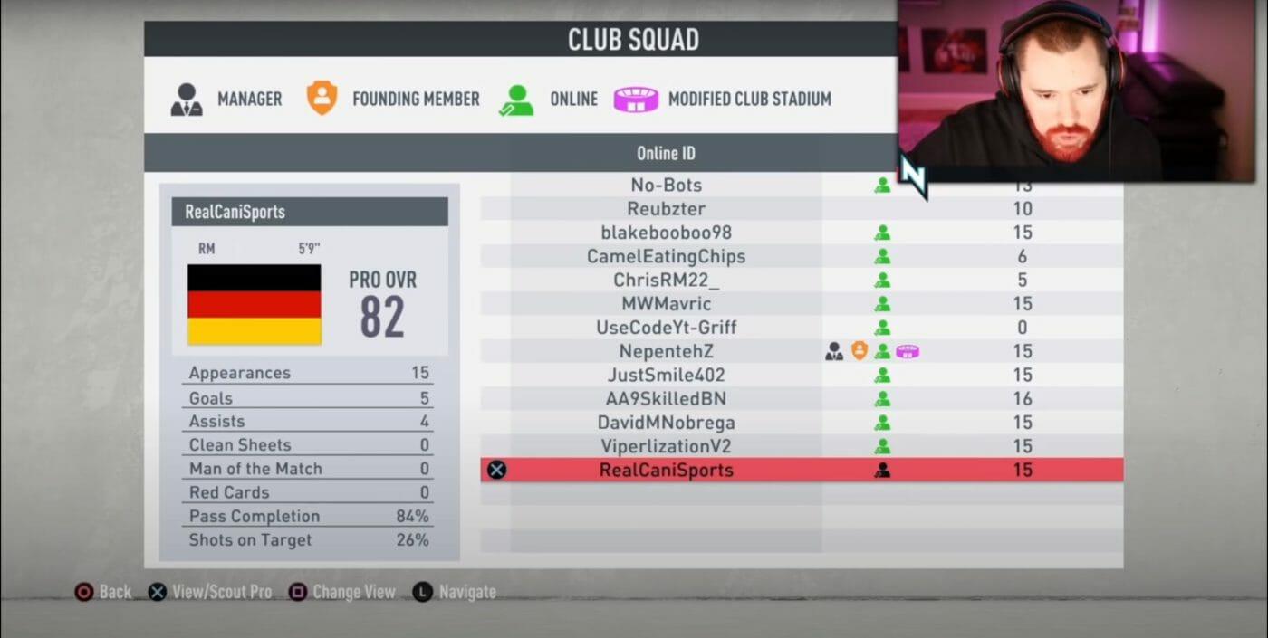 Pro Clubs Spieler nepenthez