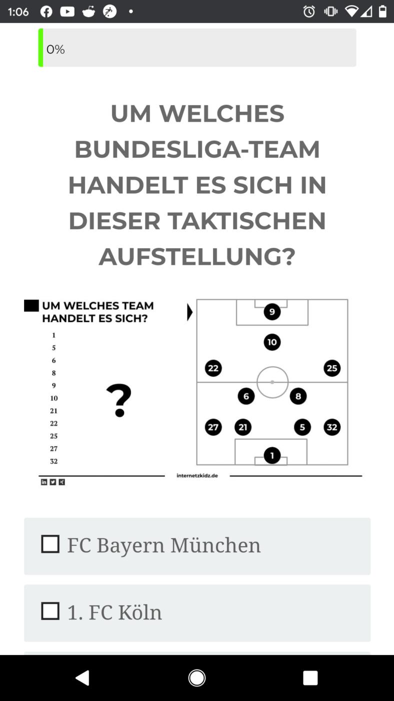 Quiz Screen Question