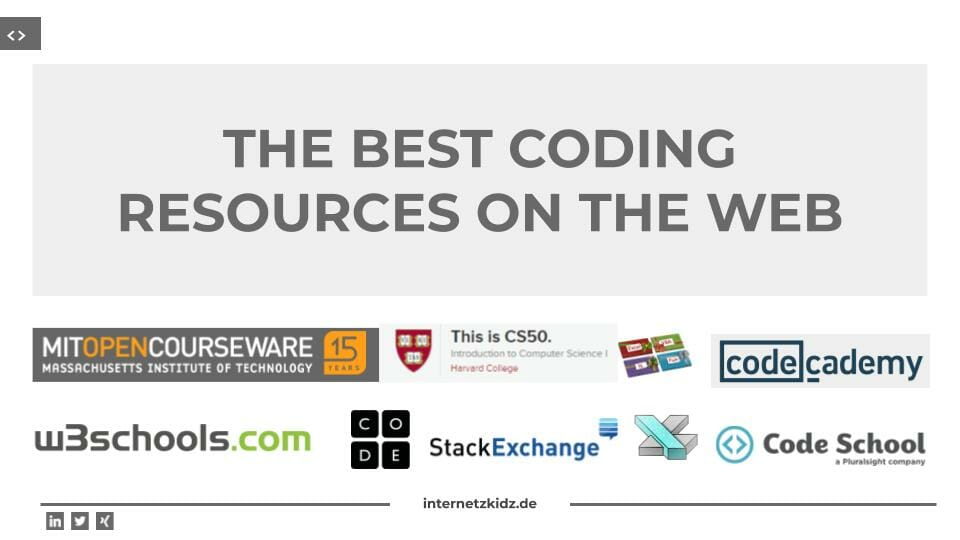 The best coding resources on the web