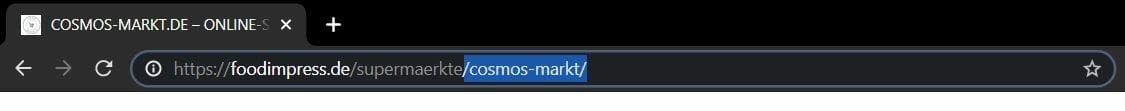 Browser Adress Zeile URL Pfad