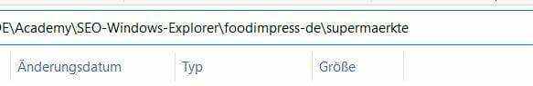 Windows Explorer Dateipfad