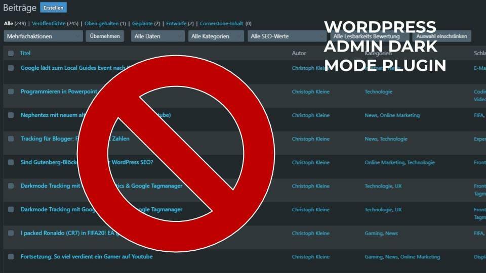 Wordpress Admin Dark Mode Plugin Review