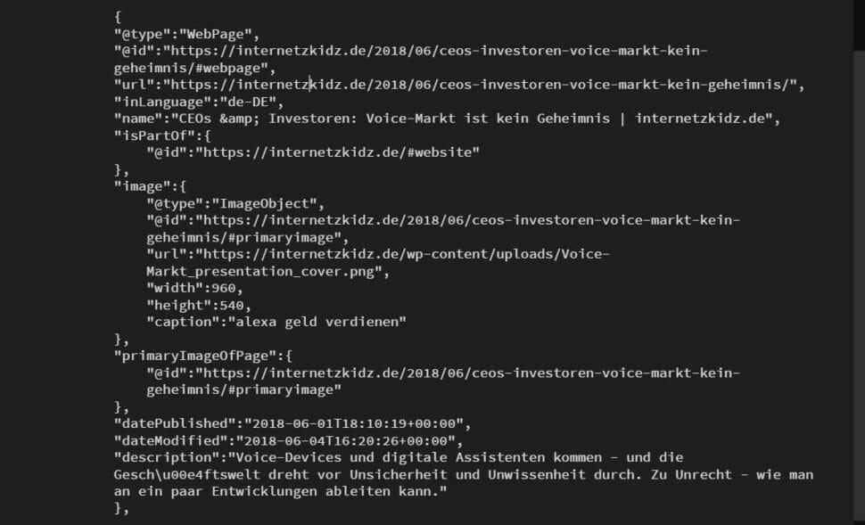 Yoast SEO Webpage Markup