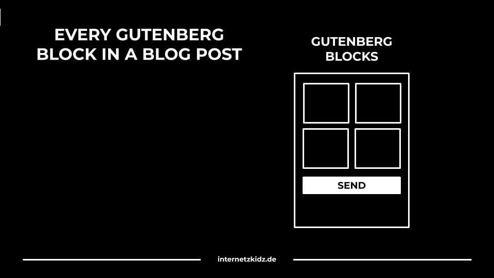 Alle Gutenberg Blöcke in einem Blogbeitrag