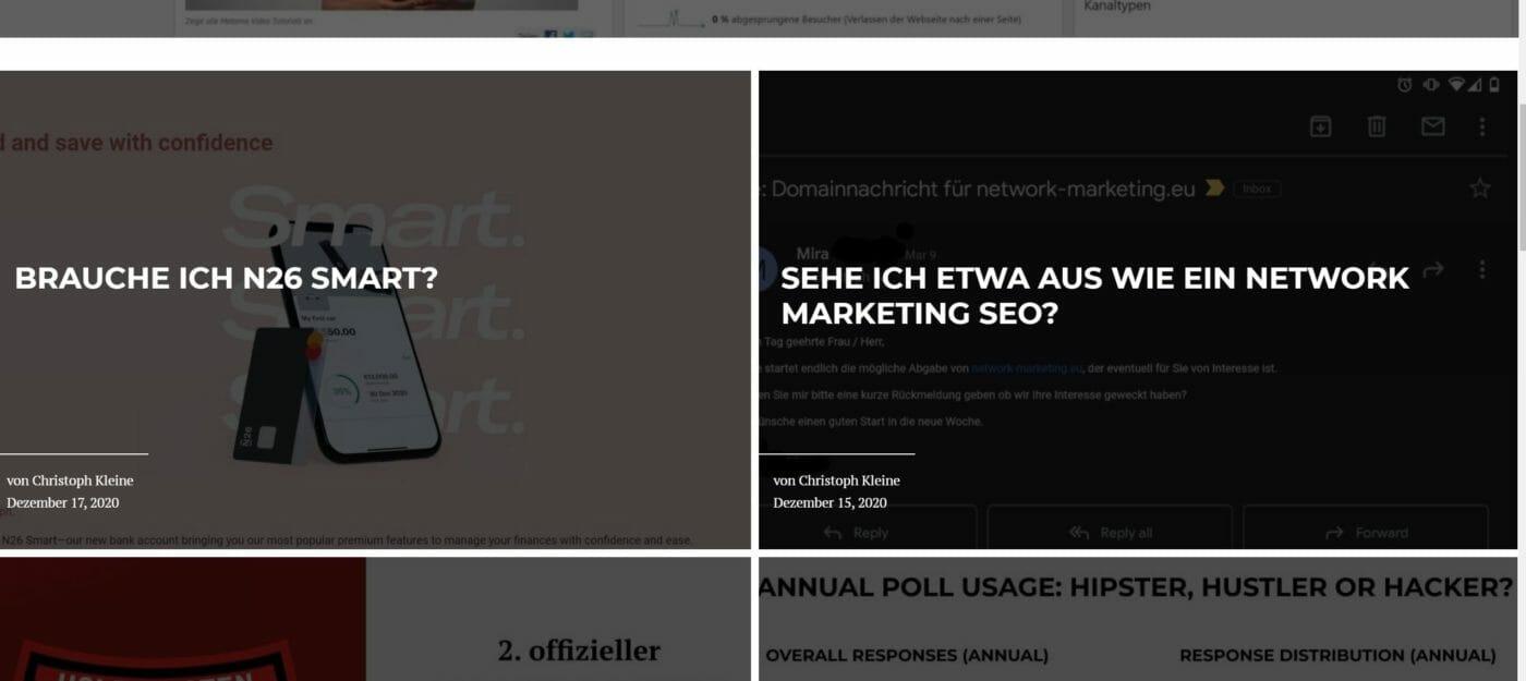 internetzkidz Startseiten-Grid mti Blocksy