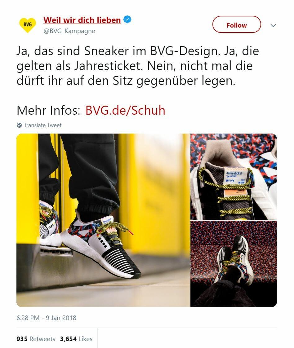 Adidas BVG Schuh Drop in Berlin