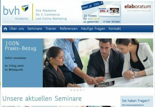 bvh academy E-Commerce Seminare von elaboratum
