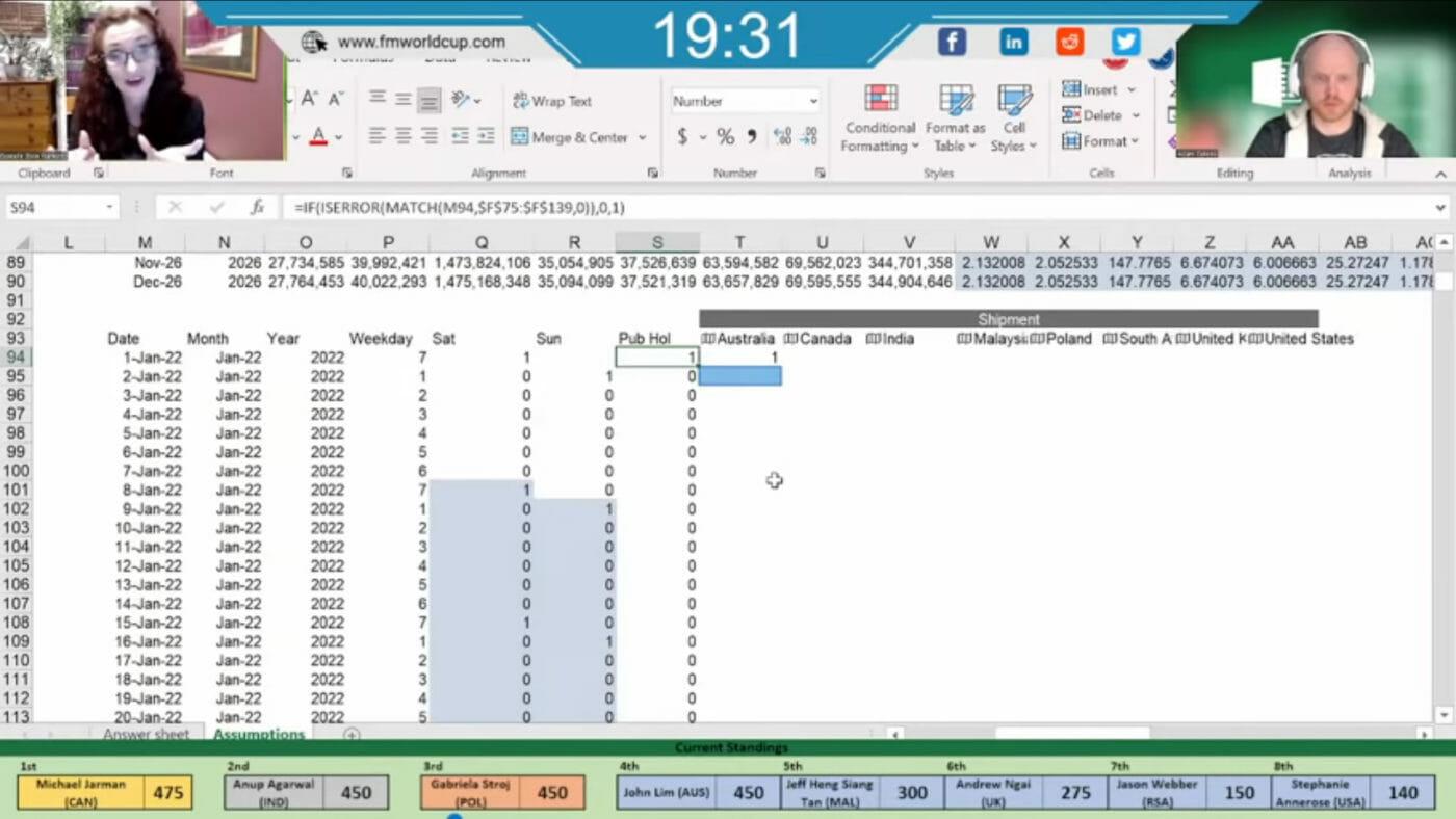Excel WM Tabellen