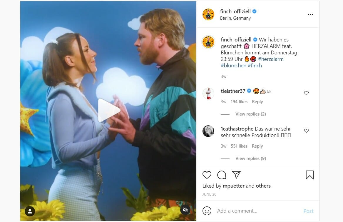 Finch x Blümchen - instagram Promo 4