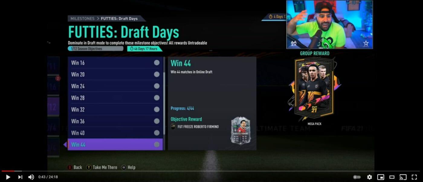 Mini Draft2Glory FIFA21