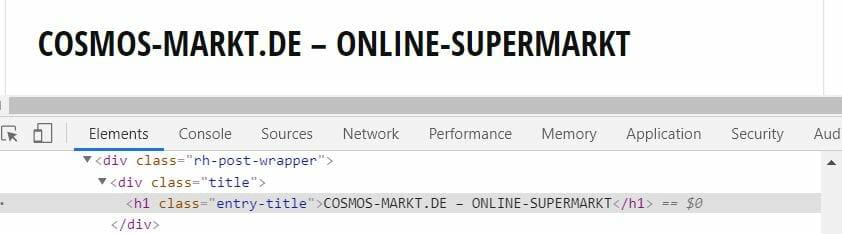 HTML Markup Dokumententitel