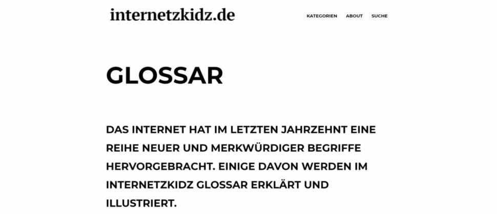 internetzkidz Glossar