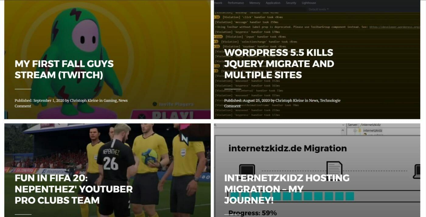 internetzkidz englische Startseite