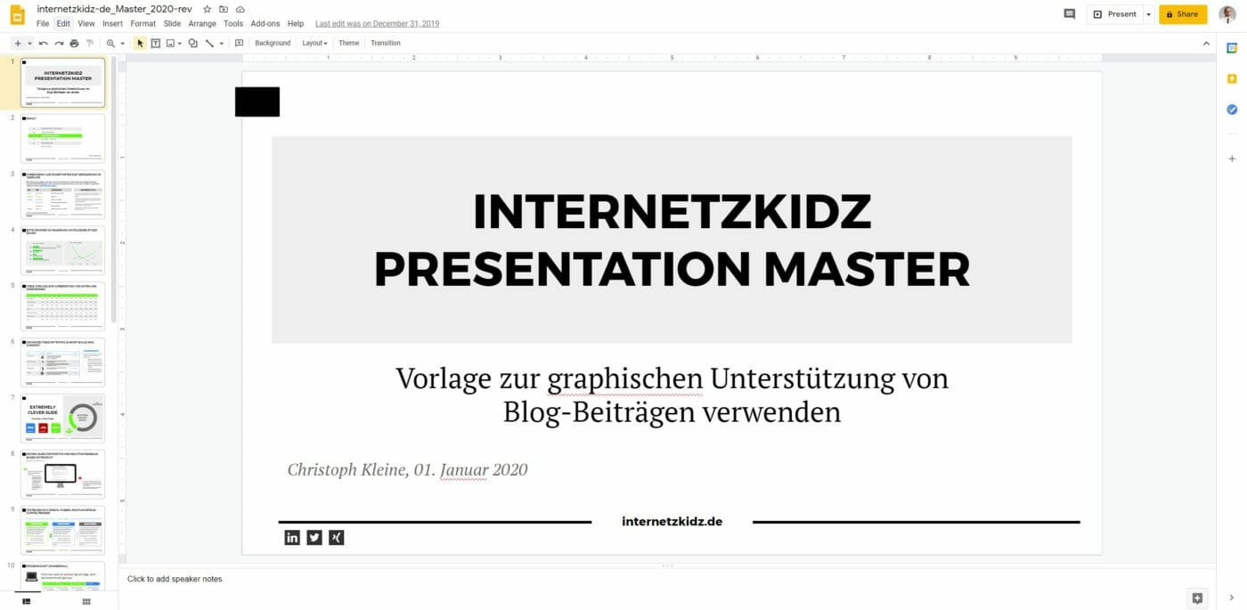 internetzkidz Slidemaster 2020 revised