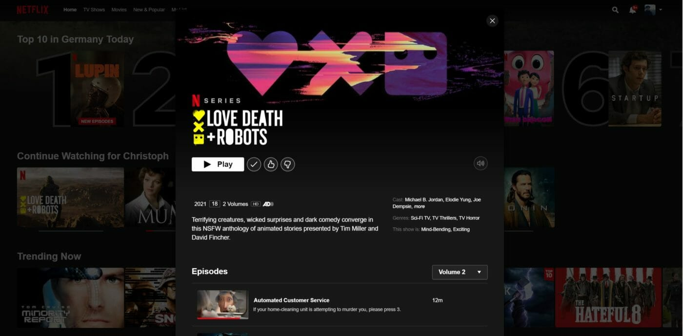 Love Death + Robots Staffel 2