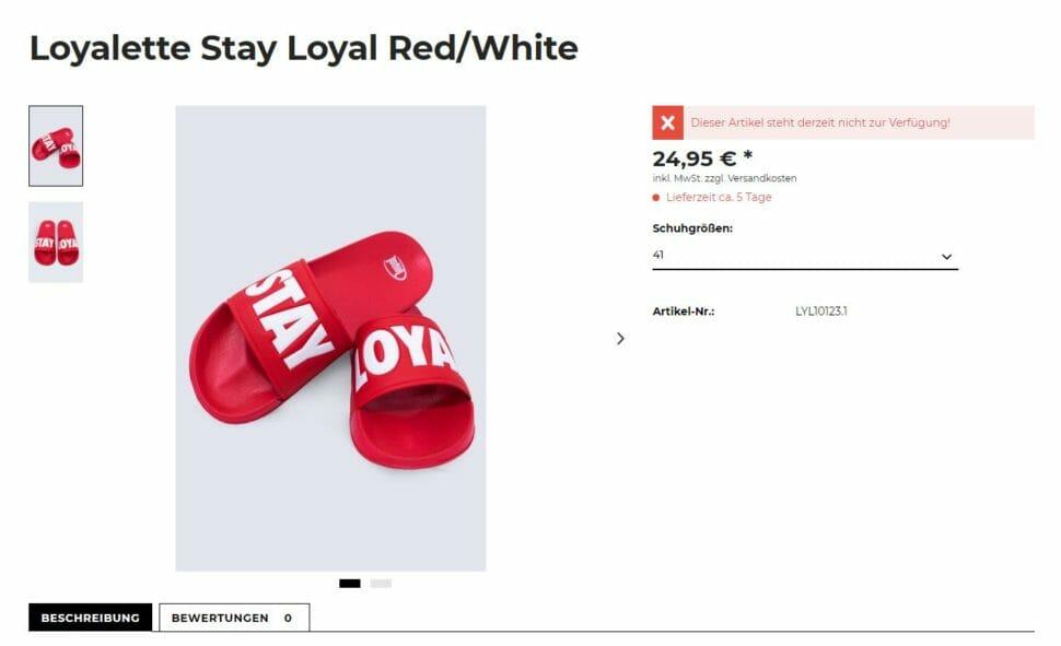 Loyalette rot Größe 41