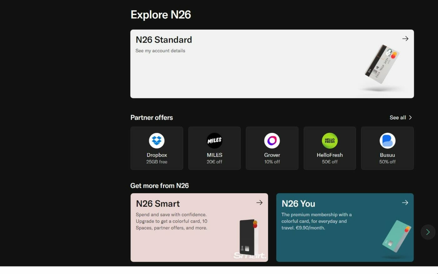 n26 Partner Offers