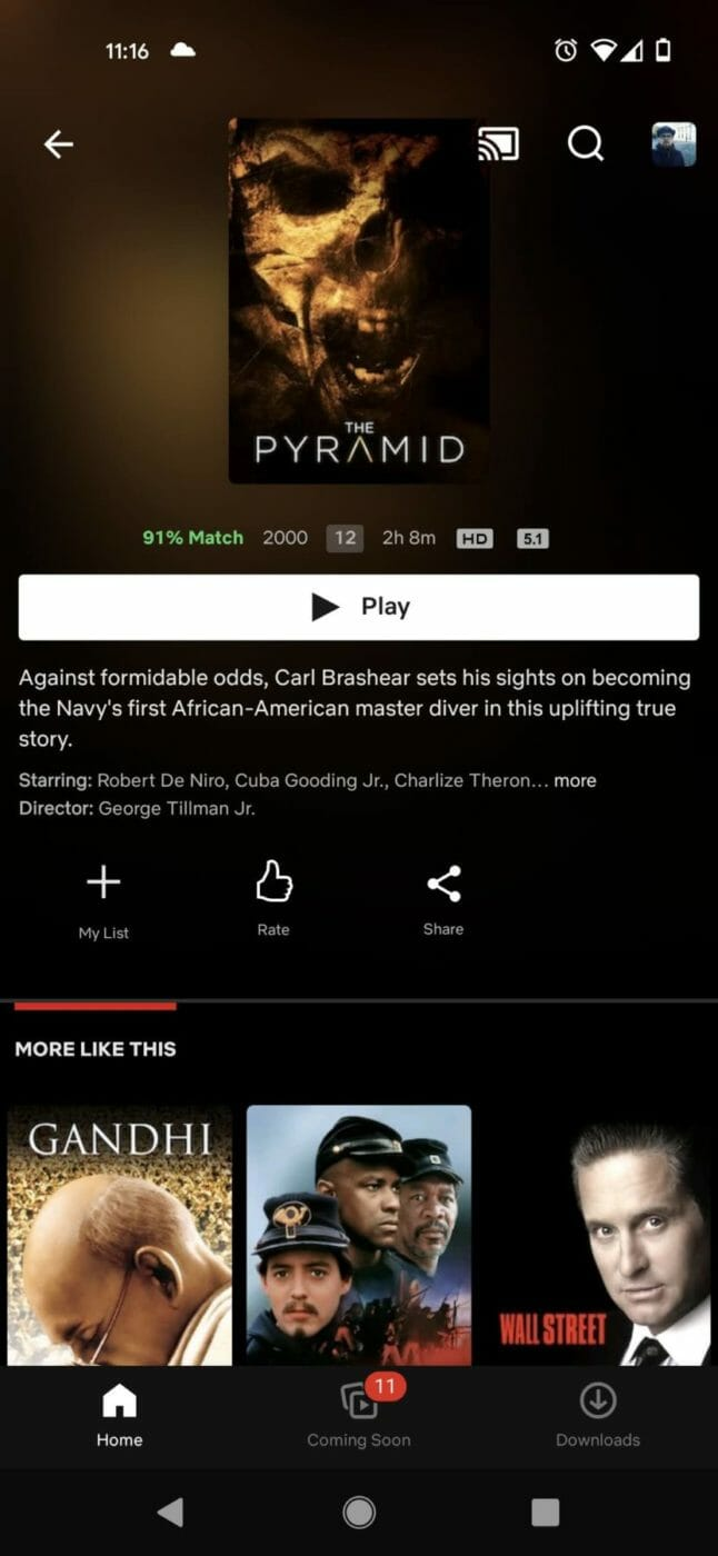 Men of Honor Description with The Pyramid Thumbnail Netflix