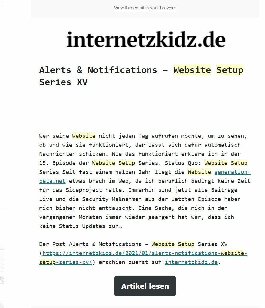 newsletter internetzkidz.de