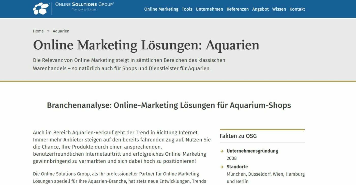 OGS SEO Aquarien
