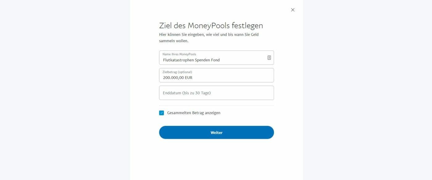 Paypal Moneypool Scam Setup
