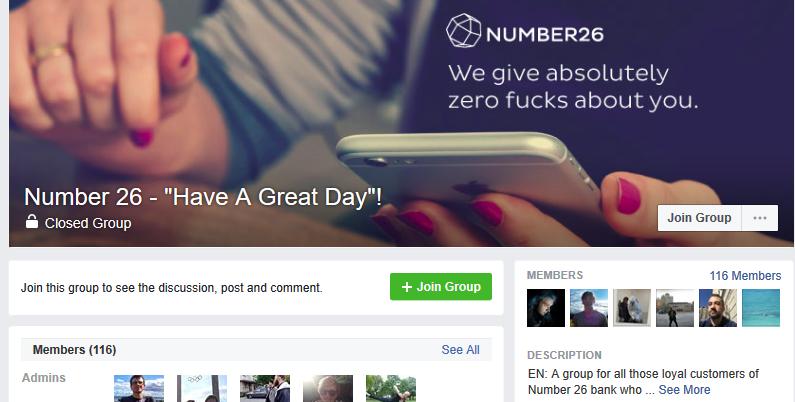 facebook Gruppe number26 gekündigte