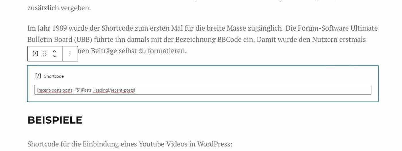 WordPress Editor Shortcode
