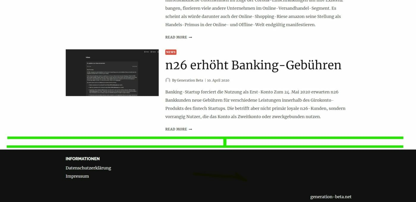 Styling Content Footer Abstand zu gering