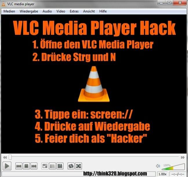 VLC Media Player Screen Hack